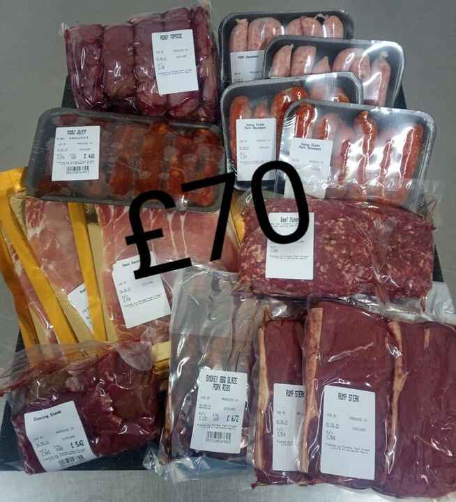Only a couple meat packs left send us a message to order. Free delivery to Nairn & Inverness by the end of today 😊🥩