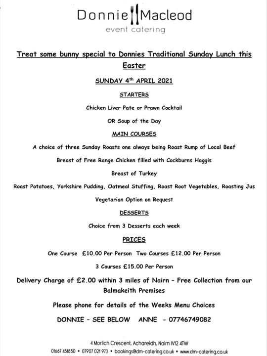 Treat some bunny special to Donnie's Traditonal Sunday Lunch this Easter 🐣