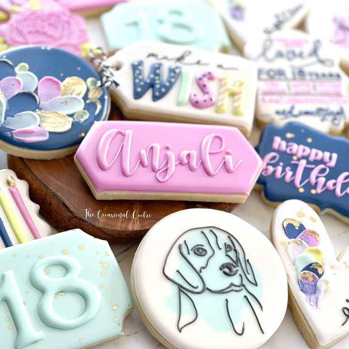 I have been making cookies for this incredible young lady since she was in middle school and every set has always featur...