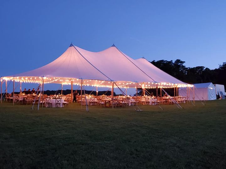 There is something majestic about the simple lines of a beautiful tent against a natural, country background. Perfect we...
