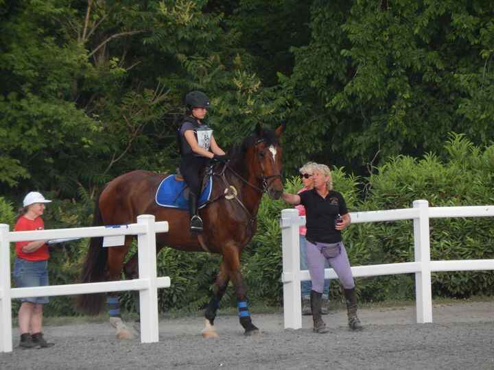 Ann-Louise has a new junior eventer! Olivia and Rebel were a great team last night! Even taking a few training fences!