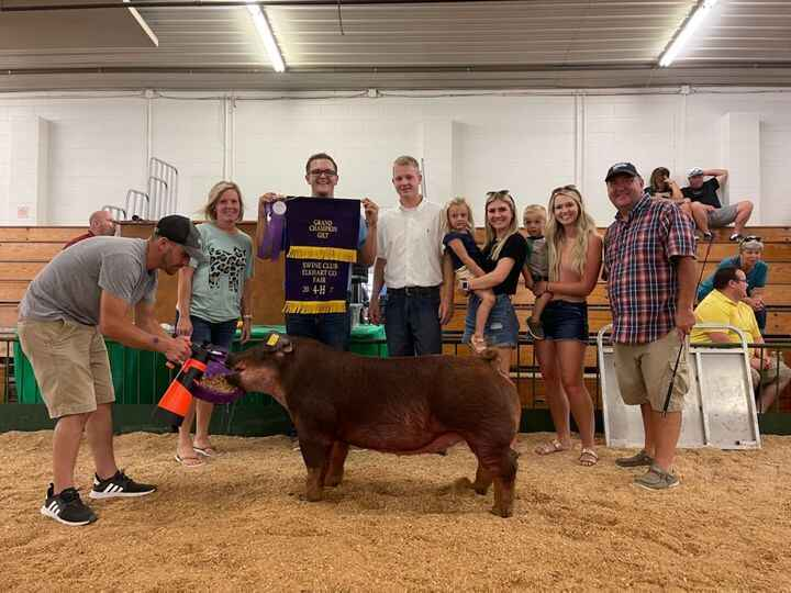 Congratulations to the Kraig Resler family for having a GREAT Elkhart County Fair Gilt Show. Grand Overall and Champion ...