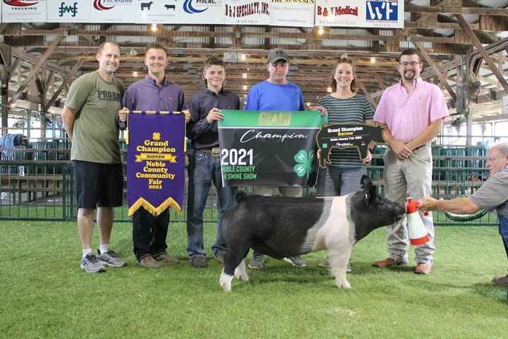 Congratulations to the Mike Ott family for having for an awesome Noble County Fair Hog Show. Grand Overall and Champion ...